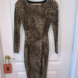 Cache Leopard Print Dress